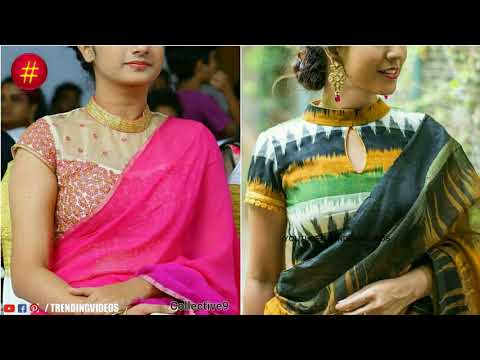 Latest New Fashion Designer Saree Blouse Designs