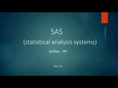 SAS Online Training - Introduction to SAS software (Part-1)