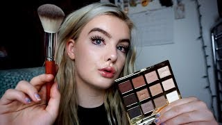 Doing Your Dewy Summer Makeup! (ASMR) Whispers, Tapping, Makeup Sounds