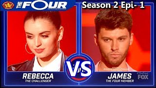 "Rebecca Black vs James Graham ""Torn"" ""A Song For You"" & RESULTS The Four Season 2"