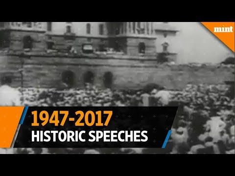 70 years of historic Independence Day speeches