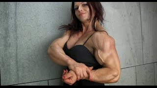Women bodybuilders with beefy muscles. its terrifying