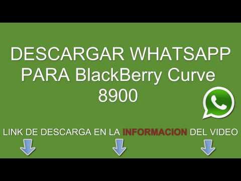 Descargar e instalar whatsapp para BlackBerry Curve 8900 gratis