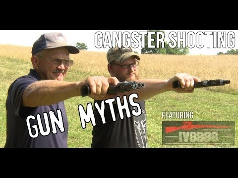 Gangster shooting- Gun Myths with Jerry Miculek & Iraqveteran8888...