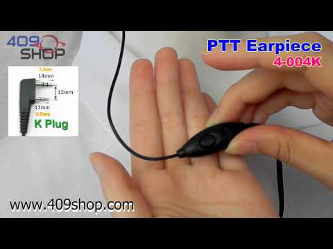 PTT Earpiece for PX-777 PX-888 KG-UVD1 KG-UV6D TGUV2 TH-UVF1 (4-004K)