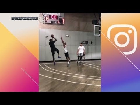 Lebron James Carmelo Anthony And Kevin Durant Play Pickup Game