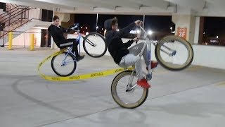 WHEELING WITH 2 BIKES TIED TOGETHER