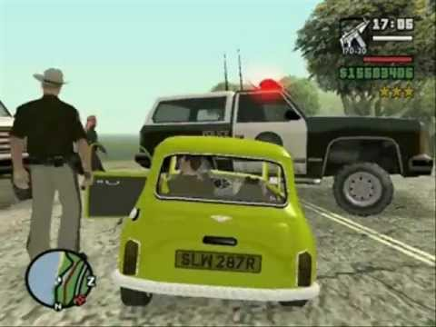 Gta San Andreas Mr.Bean inseguito dai