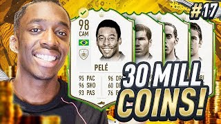 30 MILLION COINS TO SPEND! BUILDING OUR PRIME ICON TEAM! MMT #17