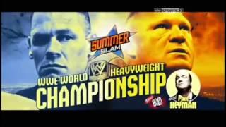John Cena vs Brock Lesnar - WWE Summerslam 2014 Official Match Card HD
