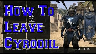ESO How to leave Cyrodiil PvP