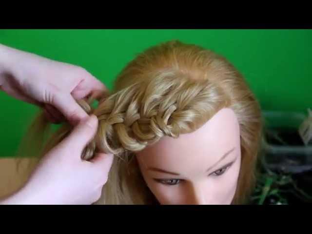 Плетение объемных кос с ажурным плетением