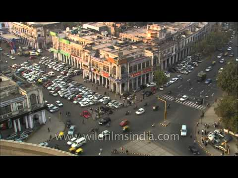 Traffic time lapse at Connaught Place, Delhi
