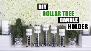 DIY DOLLAR TREE CANDLE HOLDER DIY Home Decor