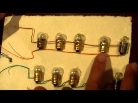 como es un circuito en serie y paralelo facil hacer.
