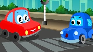 Little Red Car | lets drive on | kids video | toddler videos