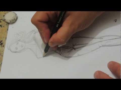 eu desenhando um croqui...