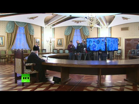 Телемост патриарха Кирилла с экипажем МКС