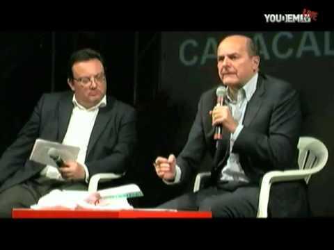 Pier Luigi Bersani intervistato da Mario Orfeo alla Festa Democratica di Roma