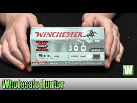 Winchester Ammo 9mm Luger 115gr WinClean Brass Enclosed Base Per 50 WC91 Unboxing