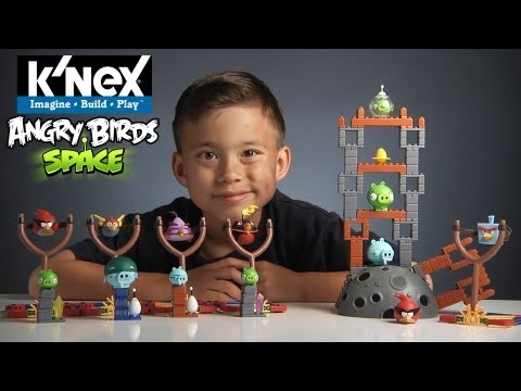 K'nex Week Day #7 - Angry Birds Space: Ice Bird Break Down! Vs. Robo-combo! video