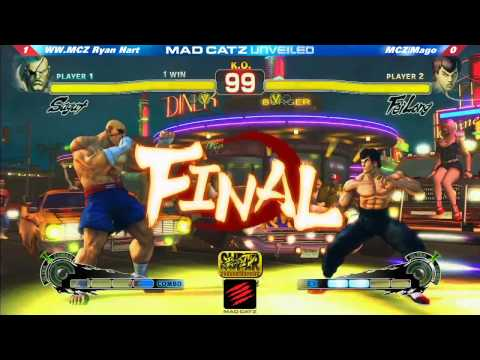 Super Street Fighter 4 AE 2012 Ryan Hart (Sa) vs Mago (Fei) Mad Catz Unveiled