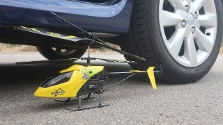 EXPERIMENT: CAR VS RC Toy Helicopter