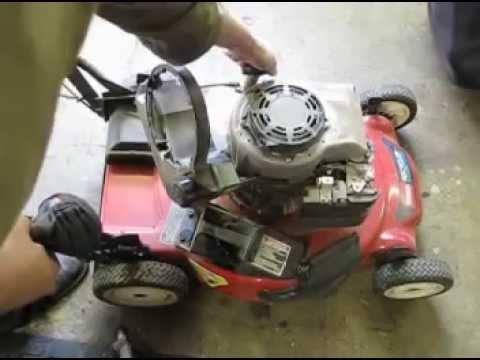 Briggs and Stratton Starter  Cord Rope Replacement. Lawn Mower Repair. Alameda Repair Shop