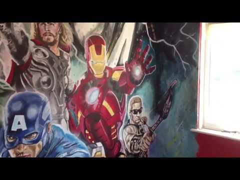 Avengers mural by drews wonder walls