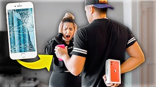 Breaking Wife's iPhone & Surprising Her With iPhone 11