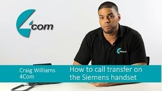 How to call transfer using a Siemens business telephone handset