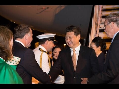 Xi Jinping begins first state  visit in Auckland
