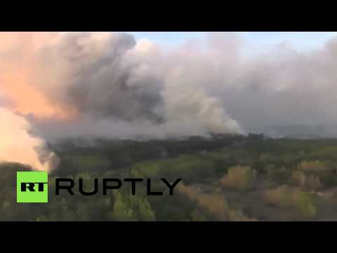 Ukraine: Yatsenyuk watches on as forest fires close in on Chernobyl