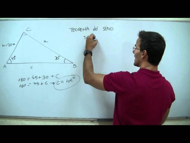 Trigonometria- Teorema del seno 1ºBACHI unicoos