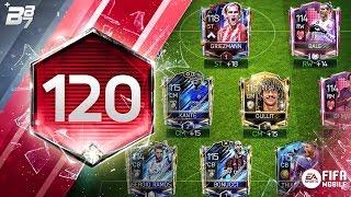 120 RATED SQUAD BUILDER! w/ HEARTBREAKER BALE AND DI MARIA! | FIFA MOBILE