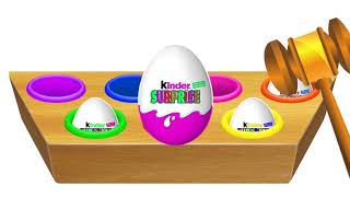 Learn Colors with Wild Animals Cartoon Surprise Eggs for Children - Learn Colours Video for Kids