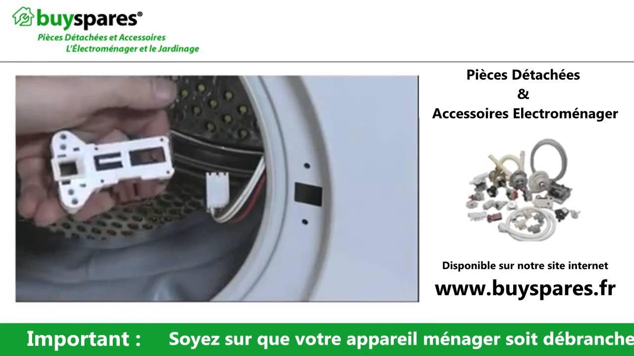 Comment changer la fermeture de porte sur un lave linge - Demontage porte four whirlpool ...