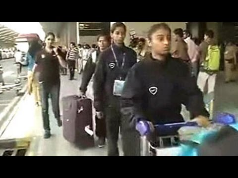 The Under-14 girls\' football team which had been detained in Nepal following Saturday\'s earthquake, has landed safely in Delhi.  Watch more videos: http://www.ndtv.com/video?yt