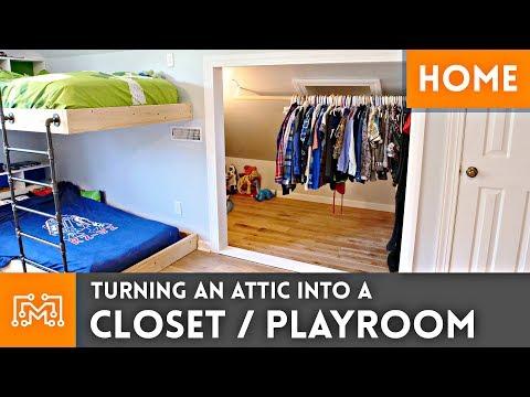 Turning an Attic into a Closet/Playroom