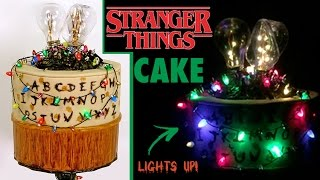 STRANGER THINGS CAKE How to Make a LIGHT UP Stranger Things Portal Halloween Cake