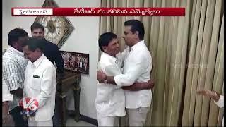 New TRS Leaders Meet KTR At Pragathi Bhavan | Telangana Assembly Polls
