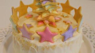 Star Tree Christmas Cookie Cake
