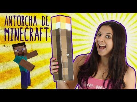 Cómo hacer una antorcha de Minecraft que se ilumina