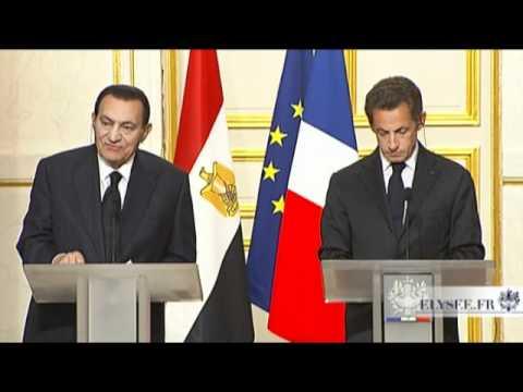 Conférence presse avec M. Mohamed Hosni MOUBARAK, Président de la République arabe d'Egypte