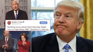 The real Trump fired back SNL saying the show's broadsides against him should be looked into