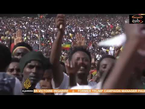 Jawar Mohammed on al jazeera following OLF returned home from neighbouring Eritrea. thumbnail