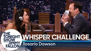Whisper Challenge with Rosario Dawson