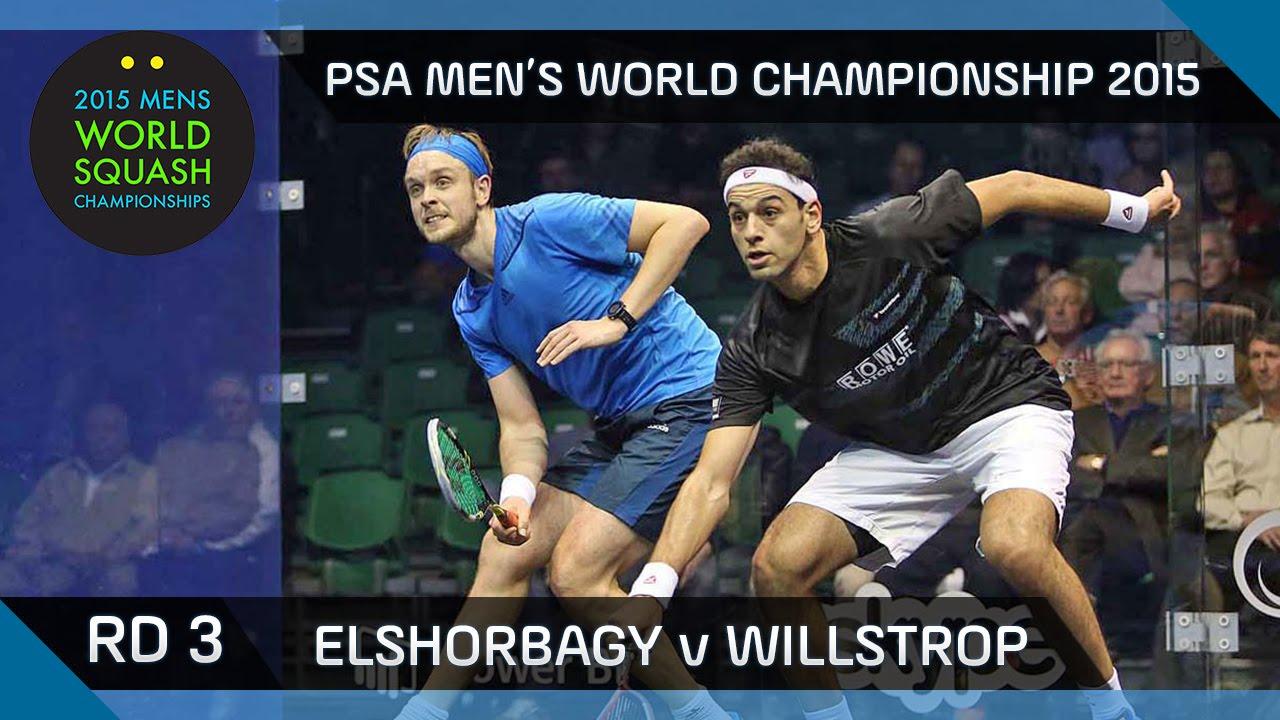Squash: 2015 PSA Men's World Championship Rd 3 Highlights: Elshorbagy v Willstrop