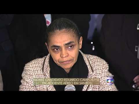 Marina Silva fala sobre morte de Eduardo Campos - 13/08/2014