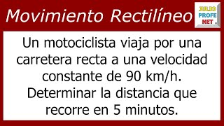 Problema sobre Movimiento Rectilneo Uniforme